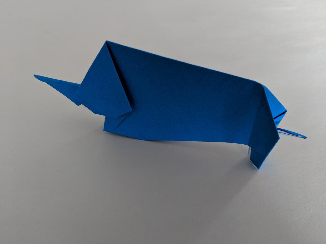 Origami elephant ixora for my final project i designed this origami elephant jeuxipadfo Choice Image