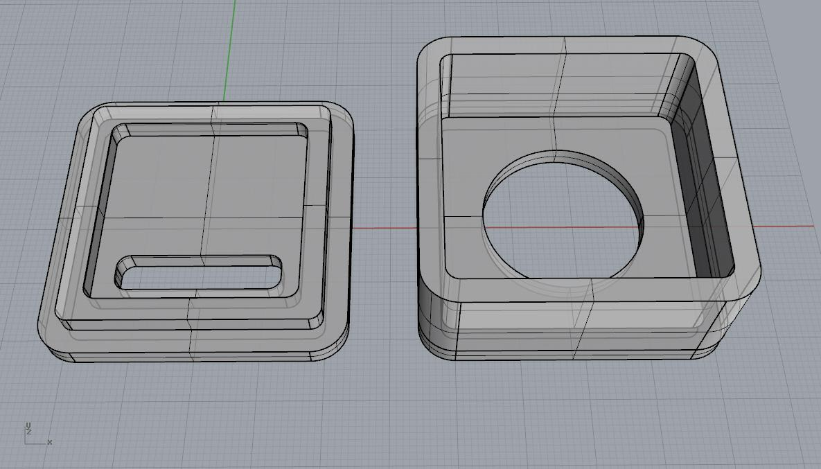 semi-transparent speaker model for main piece and rear cover